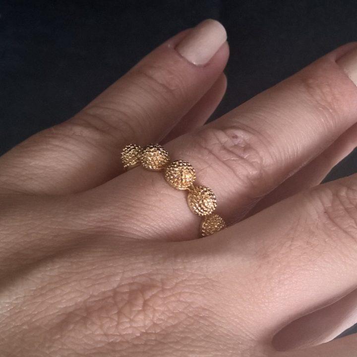 anel himalaia folheado em ouro 18k