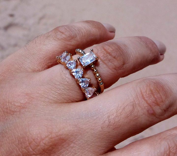 anel estilo pandora folheado em ouro 18k