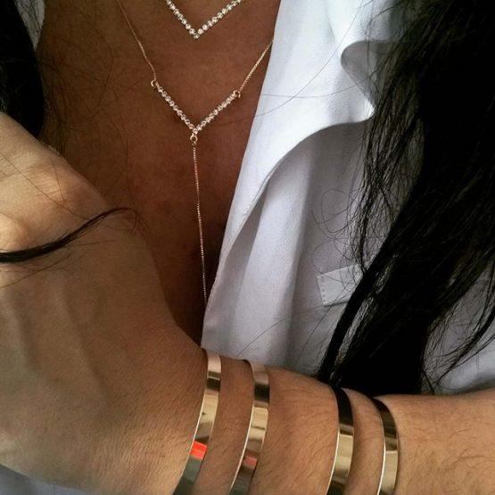 Bracelete Feminino Folheado em Ouro 18k
