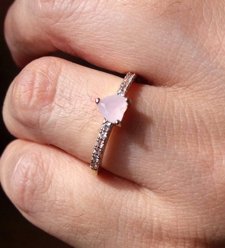 anel de noivado compromisso folheado dourado