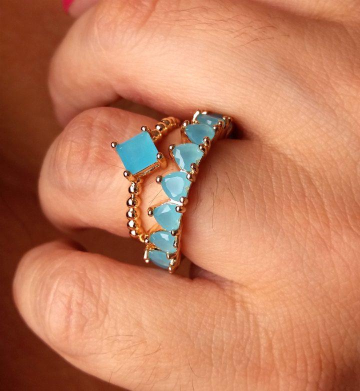 anel solitário noivado dourado ouro