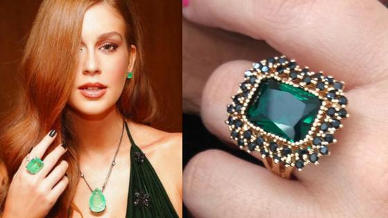 A Moda Dos Anéis de Pedra Verde Esmeralda