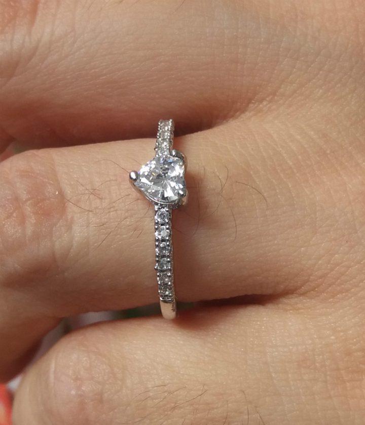 Anel Solitário Noivado Casamento Folheado Em Prata