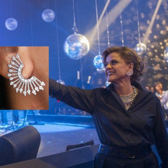 Brinco Ear Cuff Da Sophia Folheado em Prata