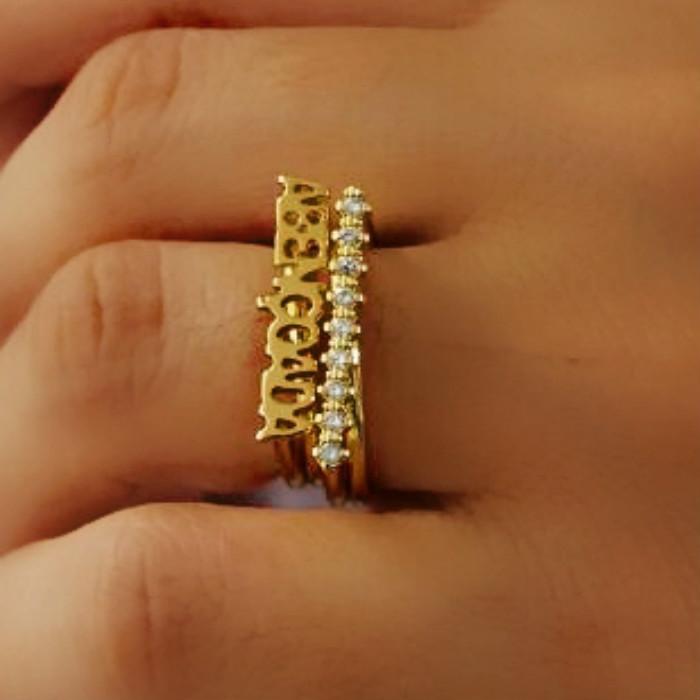 aneis femininos delicados de ouro