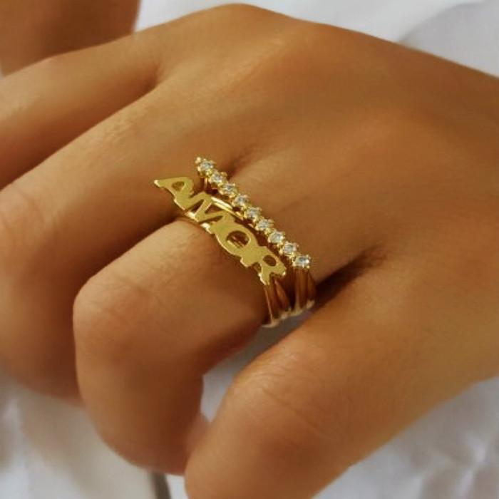 anel com nome vazado