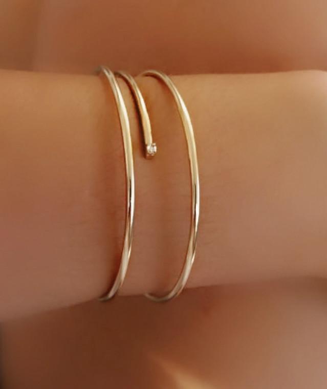 Bracelete Simple Chic Folheado em Ouro 18k