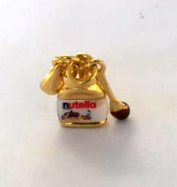 berloque nutella dourado