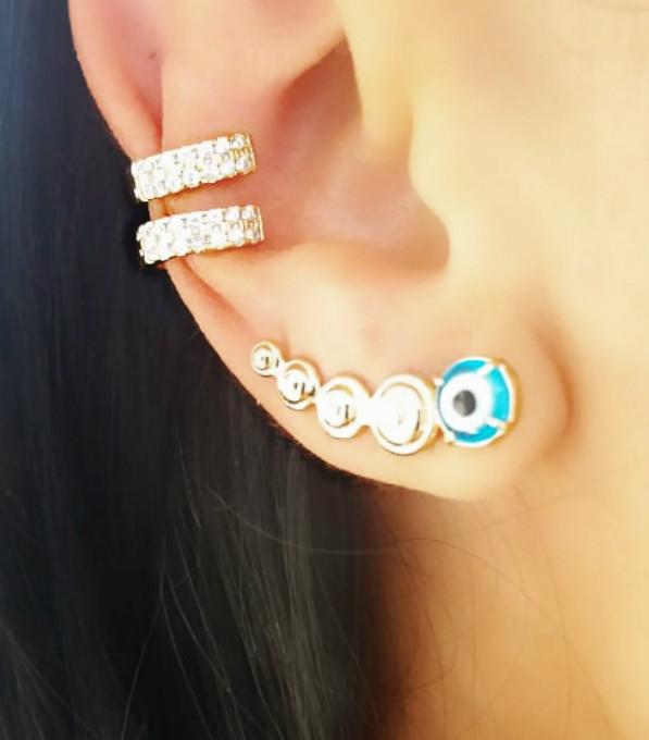 brinco ear cuff semijoias