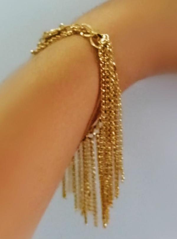 pulseira de franja da karola